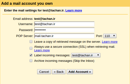 How add pop3 account to gmail_2