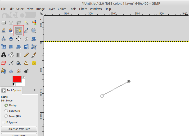 How to draw arrows in gimp