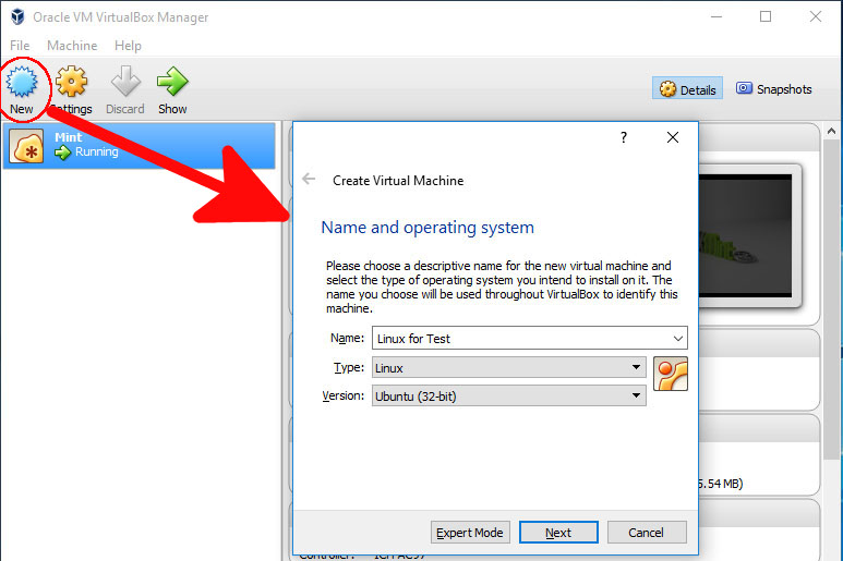 How to install linux on windows using VirtualBox